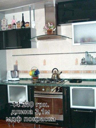 МДФ покраска, стоимость, длина кухни