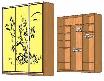 изготовление шкафов-купе, карниз для шкафа-купе, наполнение шкафа